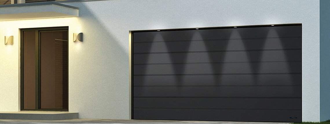 Garagen-Sektionaltor mit LED-Belechtung